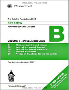 Building Regs. 2007 for Fire Sprinklers