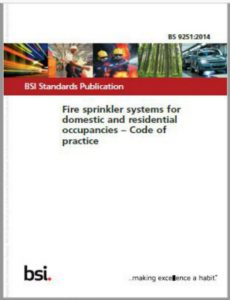 Fire Sprinklers - BS9251 2014 Regulations