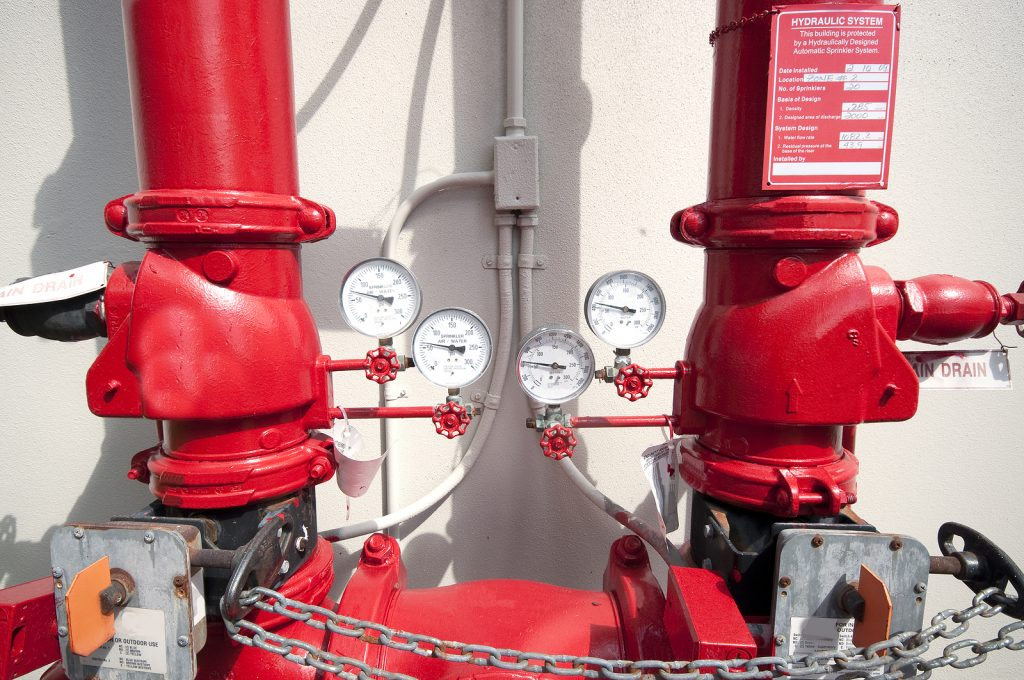 Fire Sprinkler System Pressure Gauges
